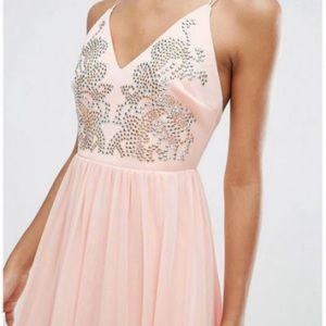 NWT! ASOS Embellished Midi Gown